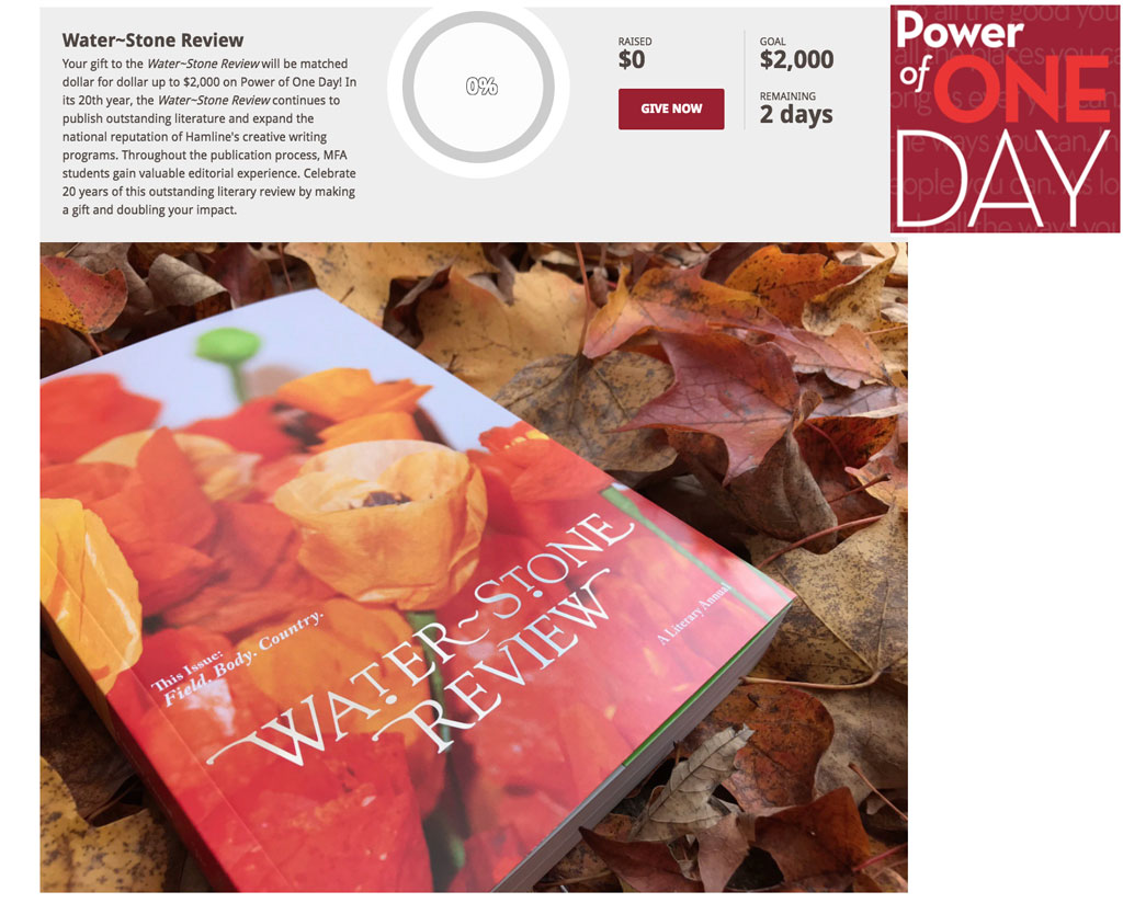 Power of One Day Water~Stone Review Challenge