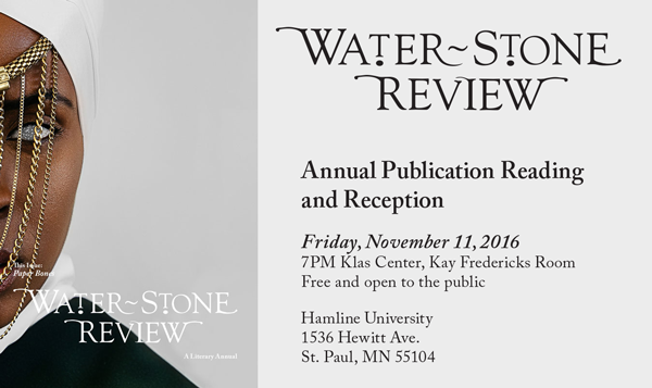Water~Stone Review Annual Publication Reading & Reception, November 11, 2016
